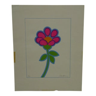 "Limited Edition -- Signed Numbered (6/150) Print -- Titled ""Single Flower"" by Montgomery For Sale"