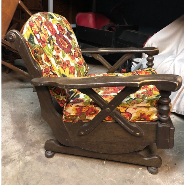 Mid-Century Floral Print Bantam Rocker For Sale - Image 5 of 6