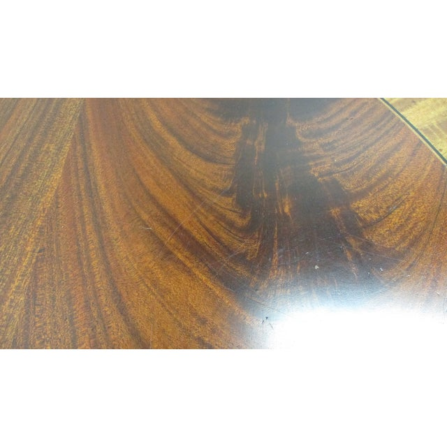Ethan Allen Flame 18th Mahogany Oval Coffee Table Newport For Sale - Image 12 of 13