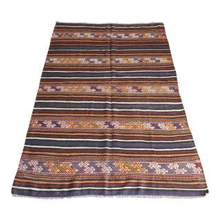1950s Turkish Home Decor Floor Kilim Rug For Sale