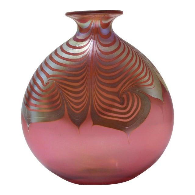 Vintage Steven Correia Favrille Art Glass Vase For Sale