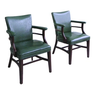Mid Century Industrial Art Deco Club Chairs- A Pair For Sale