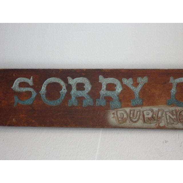 Americana Folky Original Painted Trade Sign, Early 20th Century For Sale - Image 3 of 6