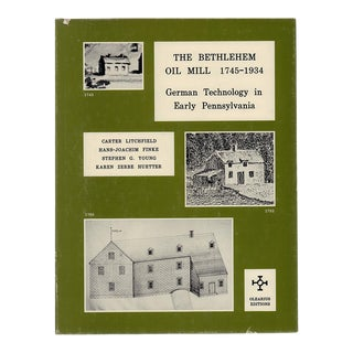 "1984 ""The Bethlehem Oil Mill 1745-1934"" Coffee Table Book For Sale"