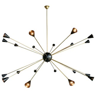 1970s Oversized Italian Sputnik Light For Sale