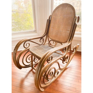 Antique Thonet Style Bentwood Cane Rocker Preview