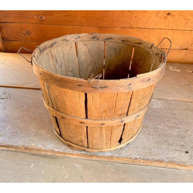 Antique Apple Picking Basket, Vintage Farm | Chairish