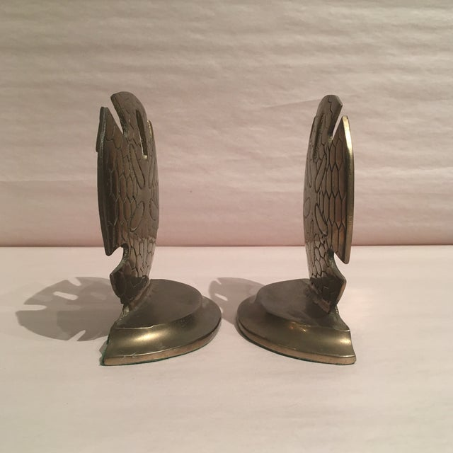 Vintage Solid Brass Dollar Shell Bookends - A Pair For Sale - Image 5 of 6