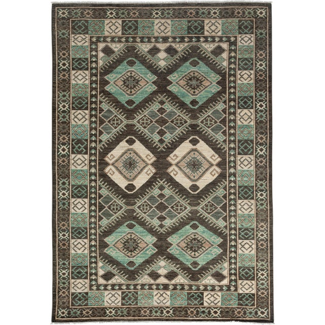 "Ziegler Hand Knotted Area Rug - 6'3"" X 8'9"" - Image 1 of 3"