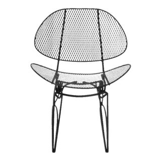 1950s Recently Restored Homecrest Wrought Iron Mesh Rocking Patio Chair For Sale