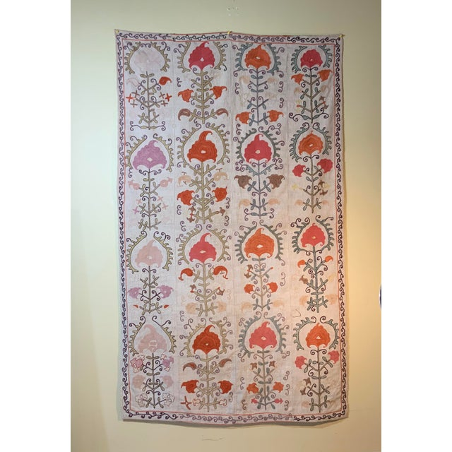 Antique Suzani Panel Wall Hanging For Sale - Image 11 of 13