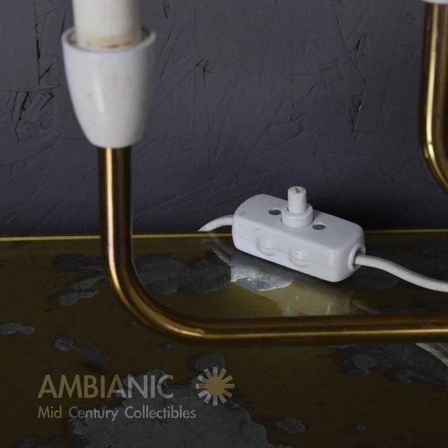 Danish Modern Pair of Danish Modern Menorah Table Lamps For Sale - Image 3 of 8