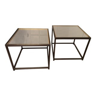 Kolkka Furniture Contemporary Glass Cocktail Tables - a Pair For Sale
