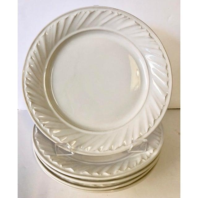 White Simon Pearce Dinner Plates - Set of 4 - Image 2 of 5