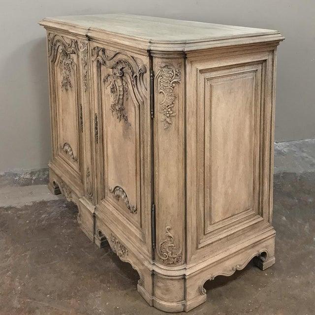 Baroque 19th Century Liegoise Regence Stripped Oak Buffet For Sale - Image 3 of 13