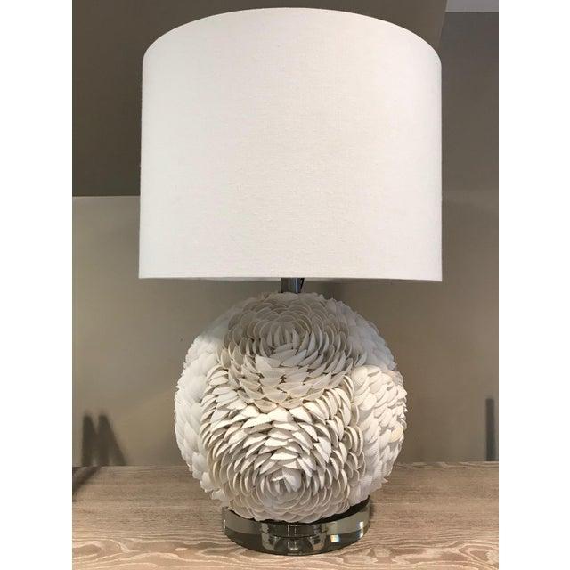 2010s Regina Andrew White Seashell Table Lamp - White For Sale - Image 5 of 5