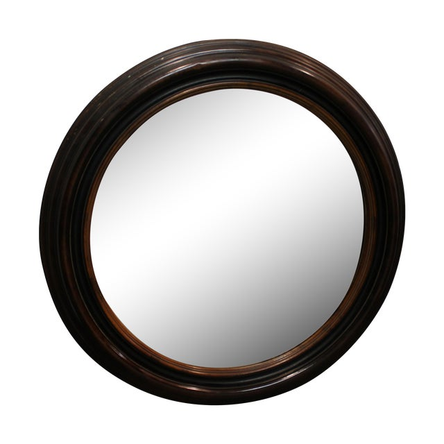 Antique Round Wall Mirror - Image 1 of 7