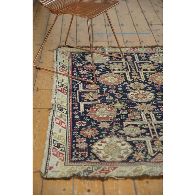 "Antique Caucasian Rug - 3'9"" X 5'1"" For Sale In New York - Image 6 of 13"