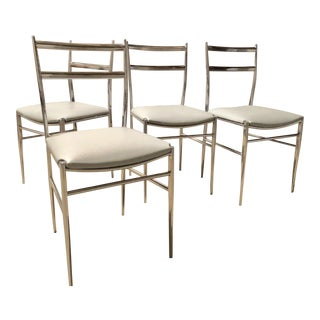 1960s Mid-Century Modern Gio Ponti Style Dining Chairs - Set of 4 For Sale