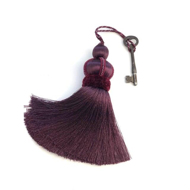 Mulberry Key Tassel W Cut Velvet Ruche For Sale In New York - Image 6 of 11
