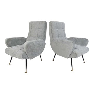 Mid-Century Italian Lounge Chairs - a Pair For Sale