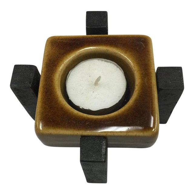 Blakeney Ceramic Gold Candleholder - Image 1 of 3