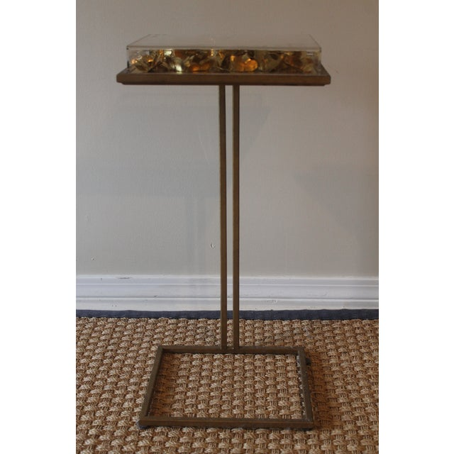 Modern Tommy Mitchell Lucite Butterfly Tray Table For Sale - Image 9 of 9