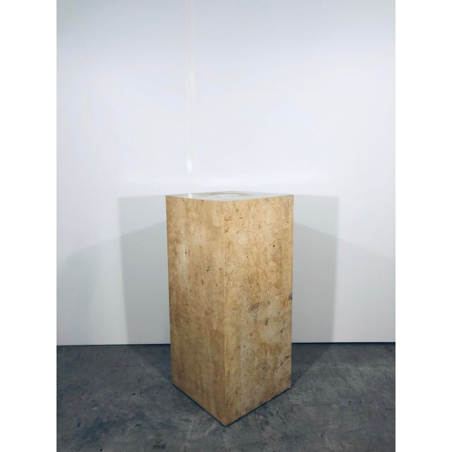 Karl Springer Style Decorative Parchment Display Pedestal For Sale - Image 12 of 13