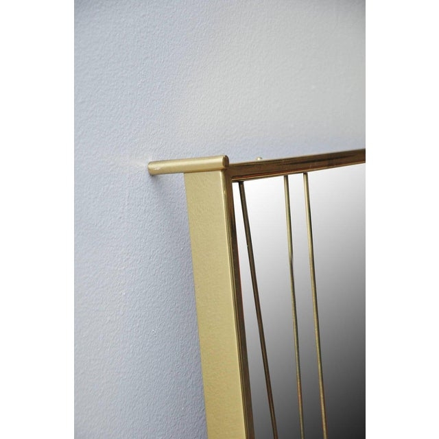 1950s Brass 'X' Mirror by Paul McCobb for Bryce Originals, 1956 For Sale - Image 5 of 7