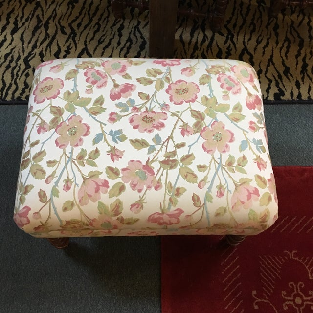 Custom Upholstered Ottoman - Image 3 of 6