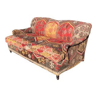 George Smith Kilim Sofa For Sale