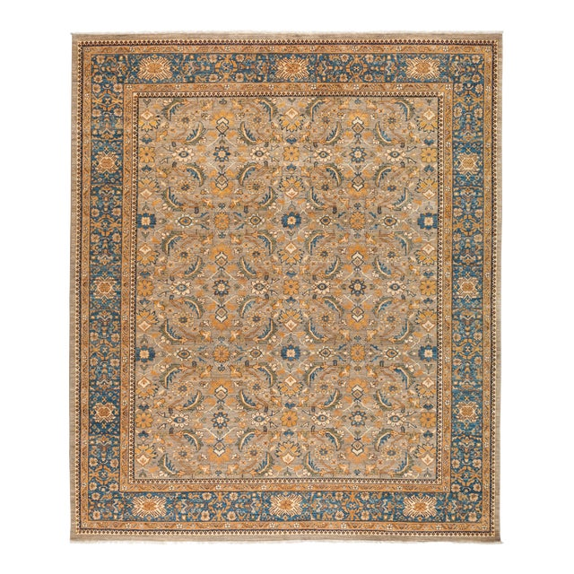 "Ziegler Hand Knotted Area Rug - 8' 4"" X 9' 8"" For Sale"