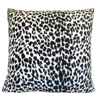 Black & White Leopard Print Pillow