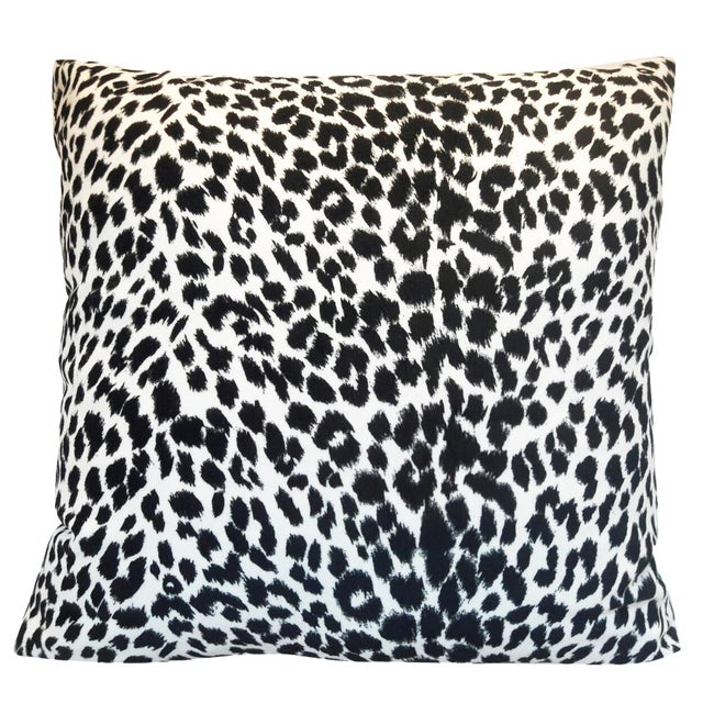 Black & White Leopard Print Pillow - Image 1 of 4