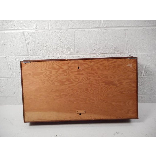 Mid-Century Modern Walnut and Mirrored Shadow Box For Sale - Image 4 of 7