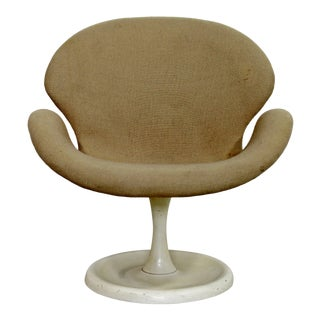 Mid Century Modern Rare Danish Orchid Lounge Swivel Armchair 1960s Aage Egeriis For Sale