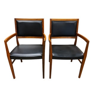 Mid 19th Century Svegards Markaryd Teak Dining Chairs- A Pair For Sale