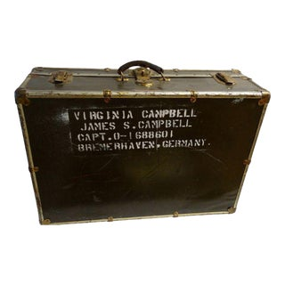 Vintage World War II Soldier's Trunk