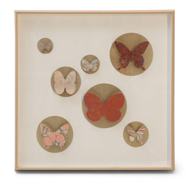 Hand-Cut Paper Butterfly Box For Sale In Houston - Image 6 of 6