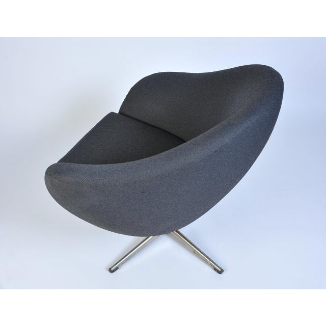 Metal Overman Pod Swivel Chairs - A Pair For Sale - Image 7 of 8