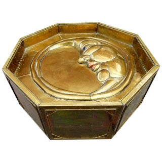 Half Moon Brass Coffee Table by Sergio Bustamante For Sale