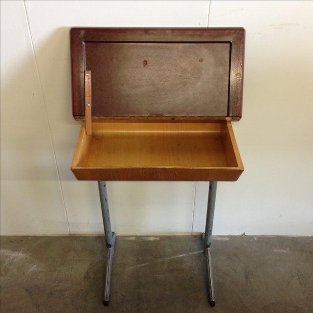 Vintage 1960s Children's School Desk For Sale - Image 7 ... - Vintage 1960s Children's School Desk Chairish