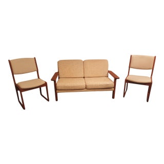 1960s Vintage Danish Juul Kristensen for Glostrup Møbelfabrik Teak Sofa For Sale