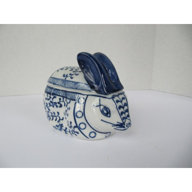 Blue and white is a classic in design and this little porcelain rabbit would look perfect in any setting. Could be used on...