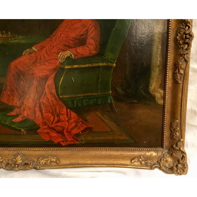 The Gentlemen of Rome ~ Oil on Board Painting Circa 1910 For Sale - Image 9 of 13