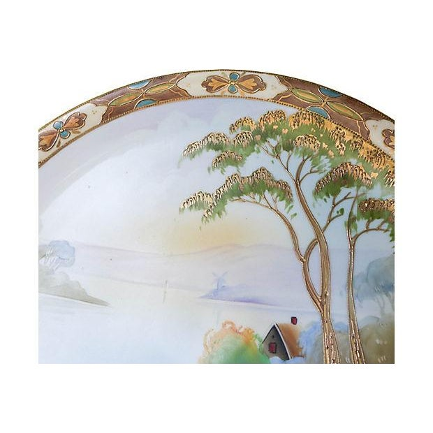 Antique Hand-Painted Nippon Platter For Sale - Image 4 of 6