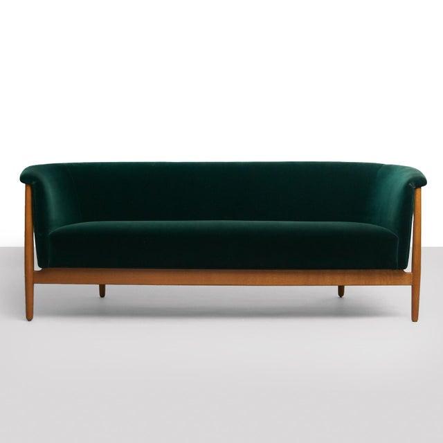 Danish Modern Nanna Ditzel Curved-Arm Sofa For Sale - Image 3 of 9
