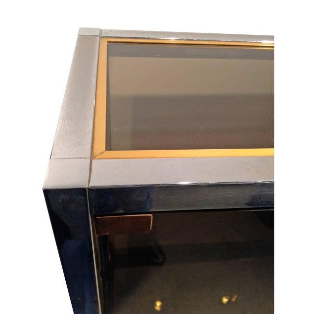 Chrome, Brass and Smoked Glass Vitrine by Romeo Rega - Image 8 of 8