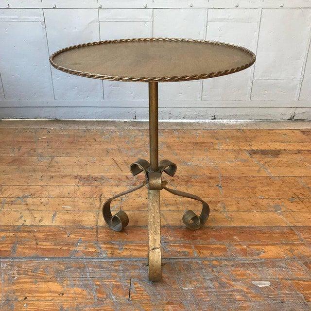 Gilt Metal End Table on a Tripod Base - Image 3 of 7