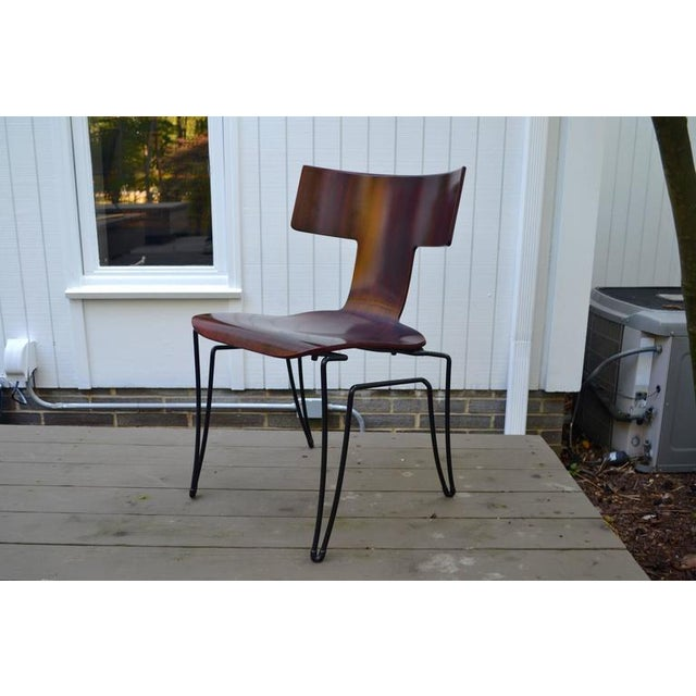 Contemporary Anziano Dining Chairs by John Hutton for Donghia For Sale - Image 3 of 10